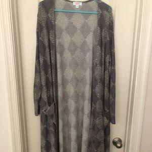 Lularoe XL Sarah... Soft and fuzzy! Worn once!
